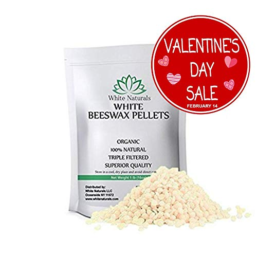 White Beeswax Pellets 1 lb , Pure, Natural, Cosmetic Grade,