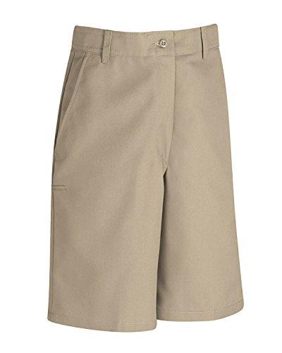 Red Kap PCC9KHB Women's Plain Front Uniform Shorts, Tan (6x9) (Plain Front Uniform)