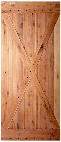 36x84 inches DIY Natural Knotty Alder Shiny Interior Sliding Barn Door Slab,Intermediate Plus (Alder Knotty Interior Doors)