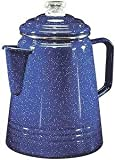 Product review for Coleman 14-Cup Coffee Enamelware Percolator (Blue)