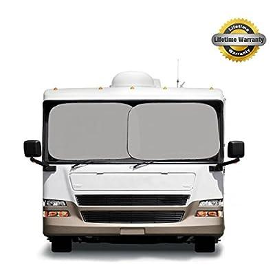 Basix Platinum Magic Shade - SUPER JUMBO Rv Truck Suv Big Car Sunshade Matt Grey - Lifetime Warranty