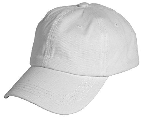 Cap Ball White (Washed Cotton Baseball Cap (One Size, White))