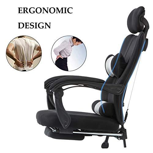 Kontorsstol ergonomisk skrivbordsstol nät dator stol ländrygg stöd modern höjd justerbar svängbar stol för kontorsstudier