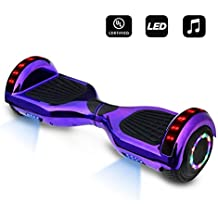 "CHO 6.5"" inch Wheels Electric Smart Self Balancing Scooter Hoverboard With Bluetooth Speaker LED Light - UL2272 Certified"
