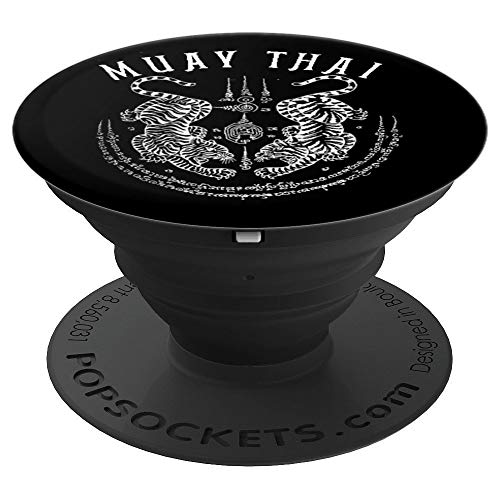 Muay Thai Gift Thai Boxing Tiger Vintage Tattoo Design PopSockets Grip and Stand for Phones and Tablets