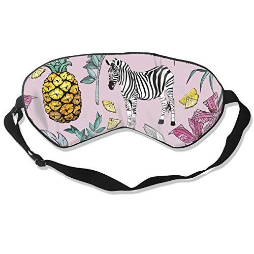 GRFER Tropical Pineapple Zebra Best Sleep Mask Travel, Nap, Adjustable Belt Eye Mask for Men and Women