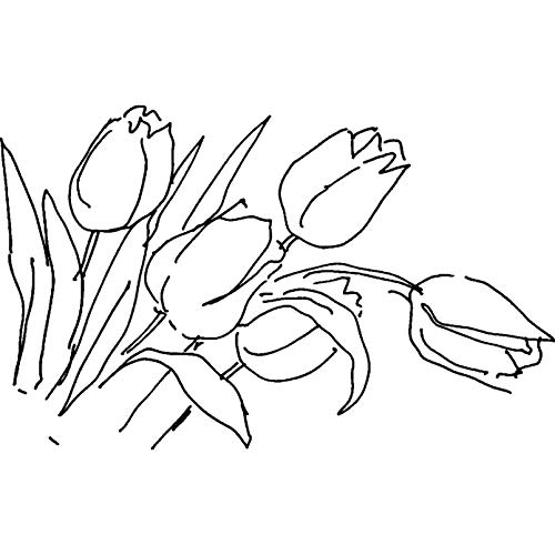 - Azeeda A8 'Tulip Flowers' Unmounted Rubber Stamp (RS00020533)