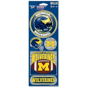 an Wolverines Prismatic Stickers, Team Color, One Size ()