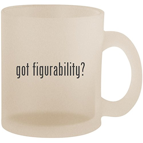 got figurability? - Frosted 10oz Glass Coffee Cup Mug ()