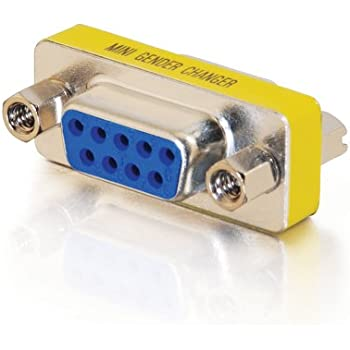 C2G/Cables to Go 02781 DB9 F/F Serial RS232 Mini Gender Changer (Coupler)