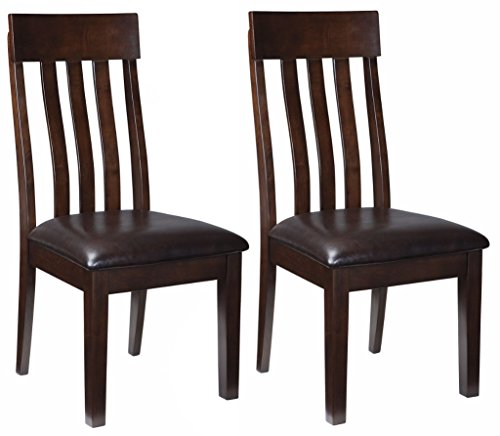 Ashley Furniture Signature Design - Haddigan Dining Room Chair - Upholstered Chairs - Set of 2 - Dark Brown by Signature Design by Ashley