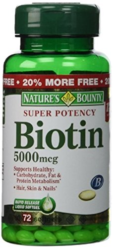 Natures Bounty Potency Biotin 5000mcg