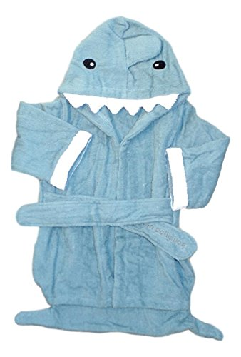 Pollywog Baby Shark Terry Cloth Towel Robe - Custom Embroidery Available