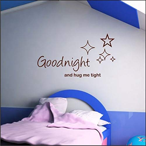 Aihesui Goodnight Hug Me Tight Wall Sticker Quotes Childrens Nursery