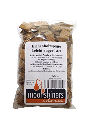 'Moonshiners Choice' American oak wood chips light toasting (40 g) MoonshinersChoice®