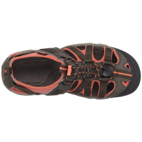 Keen Owyhee - Sandalias de vestir de Material Sintético para mujer Marrón Braun (slate black/living coral) Marrón - Slate Black-Living Coral