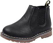 DADAWEN Baby's Boy's Girl's Casual Waterproof Side Zipper Ankle Boots (Toddler/Little