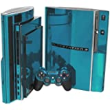 Sky Chrome Mirror Vinyl Decal Faceplate Mod Skin Kit for Sony PlayStation 3 Skin (PS3) Console by System Skins