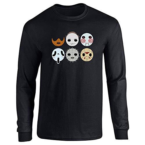 Horror Masks Halloween Costume Monster Black L Long Sleeve T-Shirt -