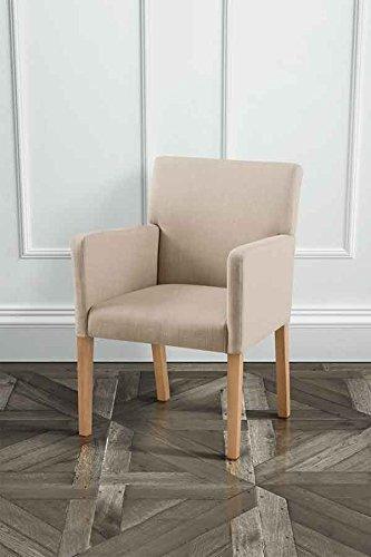 MY-Furniture LANGDON sedia da pranzo colore Beige tappezzata di alta ...