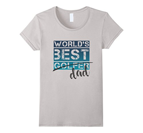 Womens World's Best Golfer Dad Funny Father's Day Gift Go...