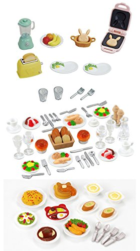 3 Food Sets - Breakfast, Lunch and Dinner Sets - The 3 Daily Meals Bundled Together (Japan Import)