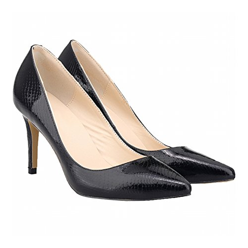 Haodasi Schuhe Muster Farbe Frauen Heels High Pumps Krokodil Mode Candy Spitz AvrwAf