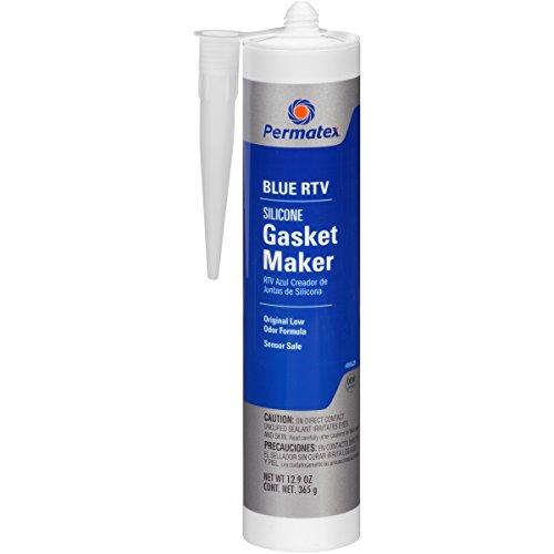 Permatex 80628-12PK Sensor-Safe Blue RTV Silicone Gasket Maker, 12.9 oz. (Pack of 12) by Permatex