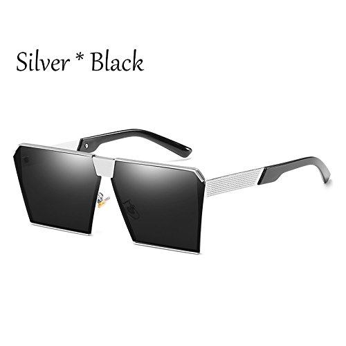 Tonos 17 Gray De Gafas Sol Uv356 Silver Enormes C2 De Silver Sol Hombre Silver Cuadradas Gafas Unas Vintage G C17 Mujer TIANLIANG04 Estilos Damas g7wqZw