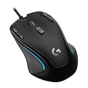 Logicool G ゲーミングマウス G300Sr ブラック usb 有線 82g 軽量 ゲームマウス 左右対称 多ボタン G300