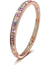 Brilla Rose Gold Plated Bangle Bracelet Women Fashion...