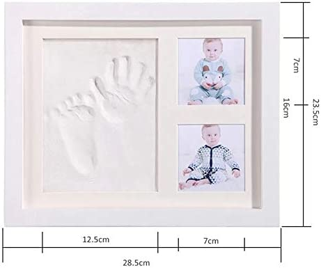 cadeau bapt/ême et naissance kit complet avec argile porte bracelets de naissance Cadre pour empreintes de b/éb/é et de b/éb/é