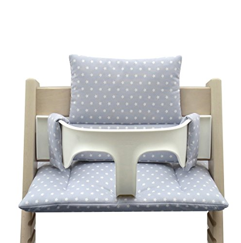 Blausberg Baby - Cushion Set for Tripp Trapp High Chair of Stokke - Grey Star