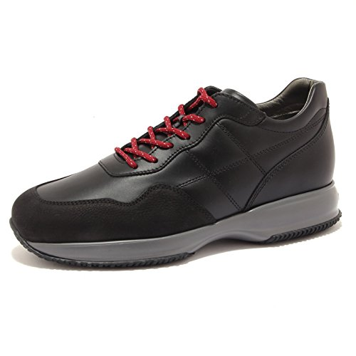 Hogan 6848U sneaker uomo INTERACTIVE H CUCITURA black shoe men Nero