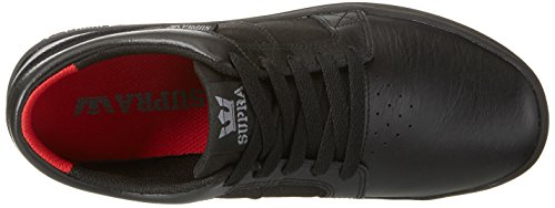 Leather Black Ineto Black Shoe Black Skate Round Supra Men Toe qwaxTqBp