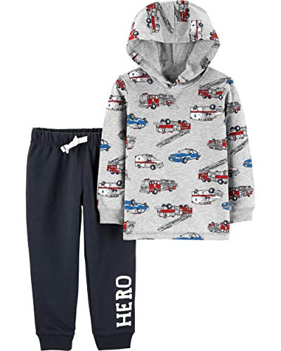Carter's Baby Boys' 2 Pc Sets (5T, Vehicle Hoodie)