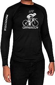 Uppercut Camisa Ciclismo Térmica Proteção Solar, G, Preta