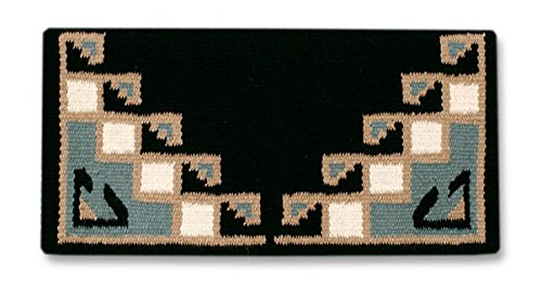 Mayatex Pueblo Saddle Blanket, Black/Seafoam/Sand/Cream, 38 x (Pueblo Sands)