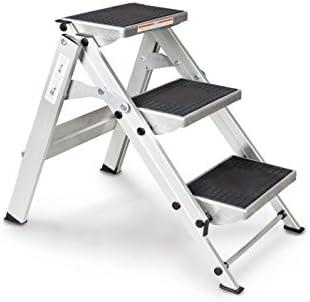 Euro Line aluminio de seguridad Escaleras O. S. plancha, Klappb., 3330003: Amazon.es: Bricolaje y herramientas