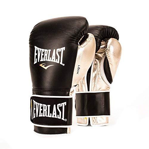 Everlast PowerLock Pro Training Gloves 18oz blk/Gld PowerLock Pro Training Gloves [並行輸入品] B07T547B7H