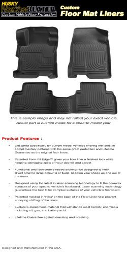 Husky Liners 98651 WeatherBeater Front and Second Seat Floor Liners for Mazda 3 (Black Second Seat Floor Liners)