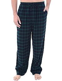 Del Rossa Mens Flannel Pajama Pants, Long Cotton Pj Bottoms
