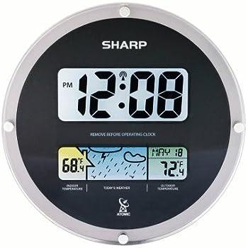Amazoncom sharp spc900wg digital atomic wall clock large for Sharp atomic wall clock spc