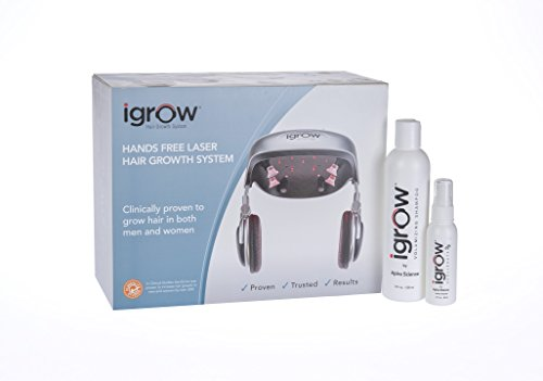 iGrow Hands Free Laser LED Light Therapy for Hair Regrowth Rejuvenation (iGrow +Volumizing Shampoo + Xcellerate35) by iGrow