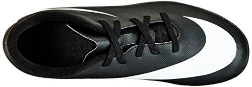Nike JR Bravata FG-R, Botas de Fútbol para Niños Negro / Blanco / Blanco (Black / White-White)