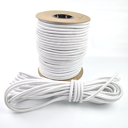 Marine Masters 3/8'' White Bungee Shock Cord (300 Foot Spool) by Marine Masters