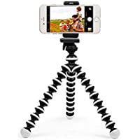 FEDUS 6 inch Flexible Octopus Gorillapod Tripod Mobile Holder with Mobile Attachment for DSLR, Action Cameras & Smartphones(Black and White)