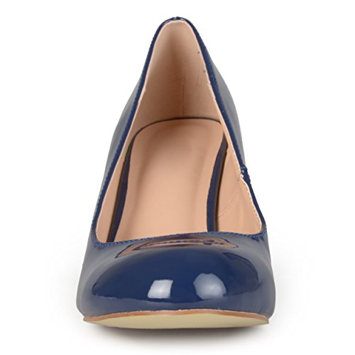 Journee Journee Faux Patent Pumps Collection Collection Womens Classic Leather Navy qwwFPa1x