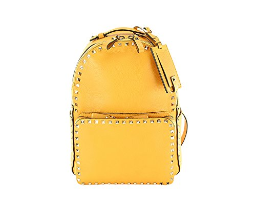 Price comparison product image Valentino Garavani Classic Rockstud Backpack - Orange Leather