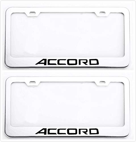 Auggies Accord Letters H Stainless Steel Black License Plate Frame Cover Holder Rust Free with Caps and Screws Fo Honda Accord (2)